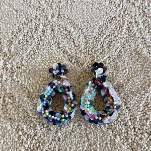Bauble Bar multi-colored sequin earrings